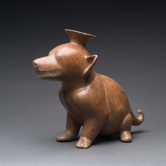 Unknown Pre-Columbian, 'Colima Terracotta Vessel in the Form of a Dog', 300 BC to 300 AD, Barakat Gallery