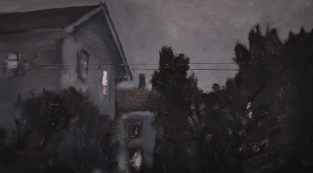 , 'Neighbor's House at Night,' 2017, Main Street Arts