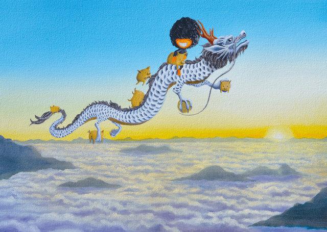 Shiro Utafusa, 'Kurukuruatama x Dragon x Golden Pig ', 2019, Art WeMe Contemporary Gallery
