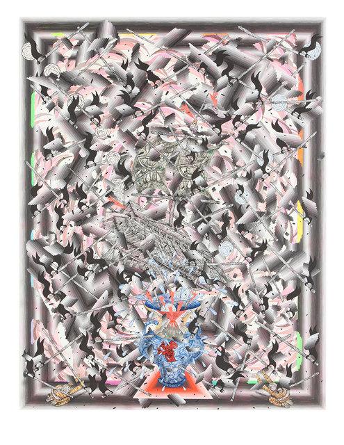 , 'Improvisational Explosion (Floating Ship),' 2016, Joshua Liner Gallery