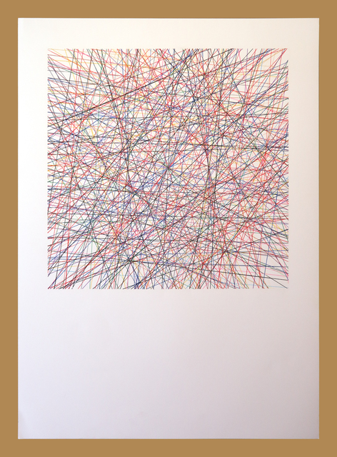 Willem Besselink, 'Romankleuren - De blauwe nacht - Jan Siebelink', 2019, NL=US Art