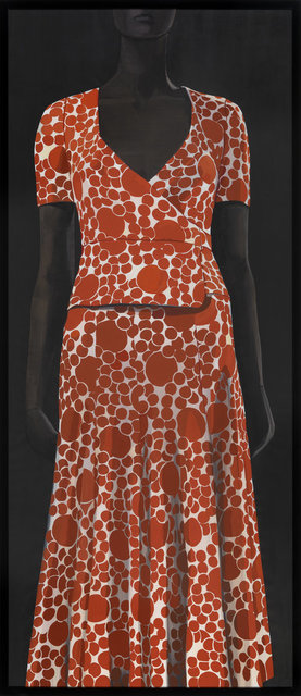 , 'Mycella maxi-dress with wrap-overtop and flared shirt - Biba,' 2014, CFHILL