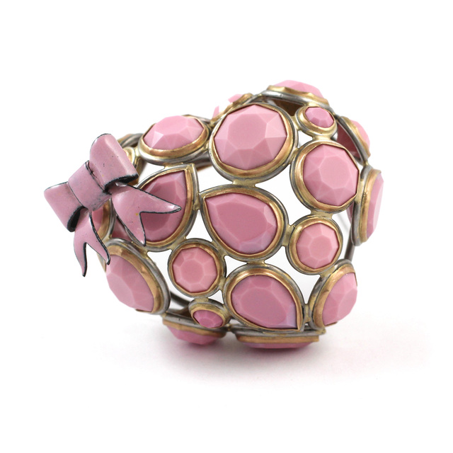 Lola Brooks, 'Brooch', 2012, Jewelry, Vintage rhinestones, stainless steel, 14k gold, copper and vitreous enamel, Sienna Patti Contemporary