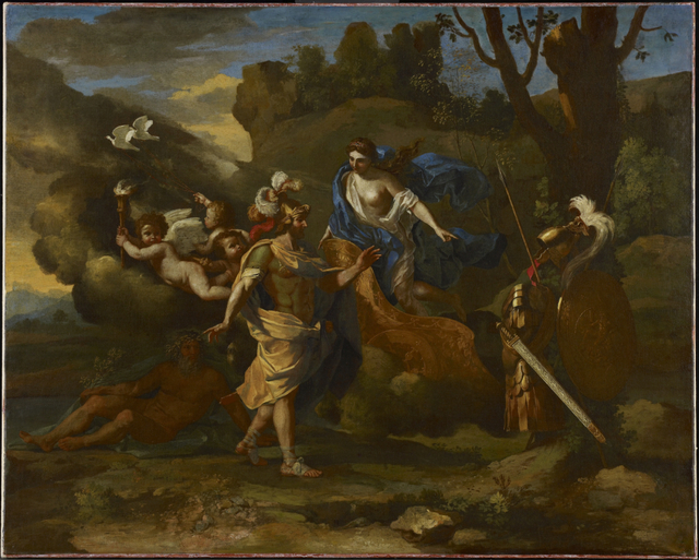 Nicolas Poussin, 'Venus, Mother of Aeneas, Presenting Him with Arms Forged by Vulcan', ca. 1636-1637, Art Gallery of Ontario (AGO)