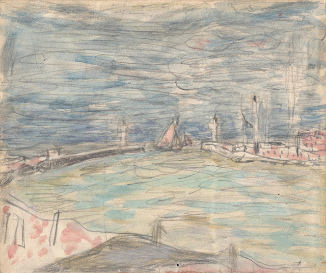 , 'Sailboats at the Entrance to the Port,' ca. 1925, Jill Newhouse Gallery