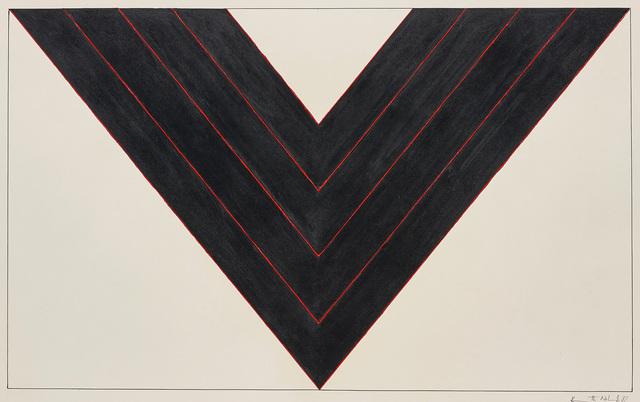Kenneth Noland, 'American Black', 1987, Phillips