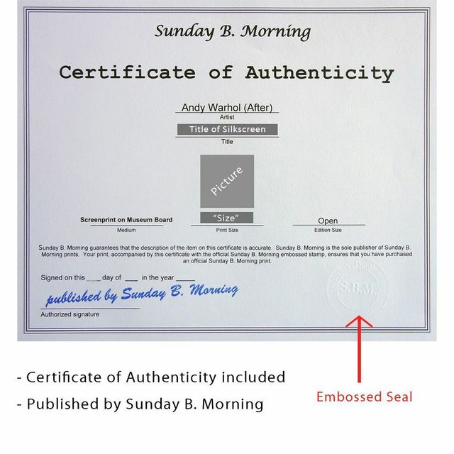 Sunday B. Morning, 'Dollar Sign, Blue (Sunday B. Morning)', 2013, Reproduction, Silkscreen on Museum Board, Art Commerce