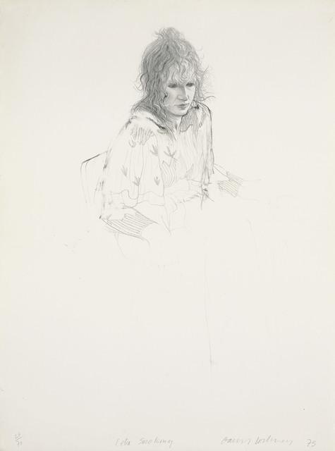David Hockney, 'Celia smoking', 1973, Christie's