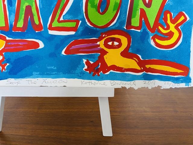 Katherine Bernhardt, 'Save The Amazone', 2019, Print, 12 + color screen print on 100% cotton Don Bosco 250 gr paper, The Linocut