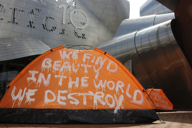 , 'WE FIND BEAUTY IN THE WORLD WE DESTROY,' 2015, SABSAY