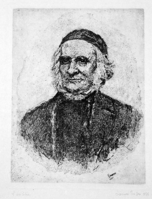 , 'Portrait of Elias Frise,' 1886, Harris Schrank Fine Prints
