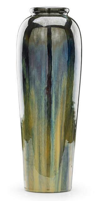 Fulper Pottery, 'Tall vase, multicolor flambé glaze, Flemington, NJ', ca. 1920, Design/Decorative Art, Rago/Wright