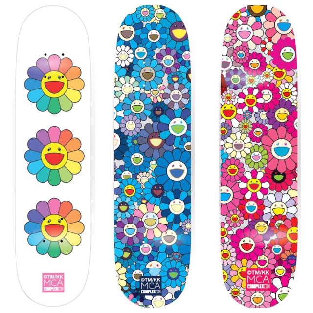 Takashi Murakami, 'Set of 3 Skateboards', 2017, Other, Skateboard decks, EHC Fine Art Gallery Auction