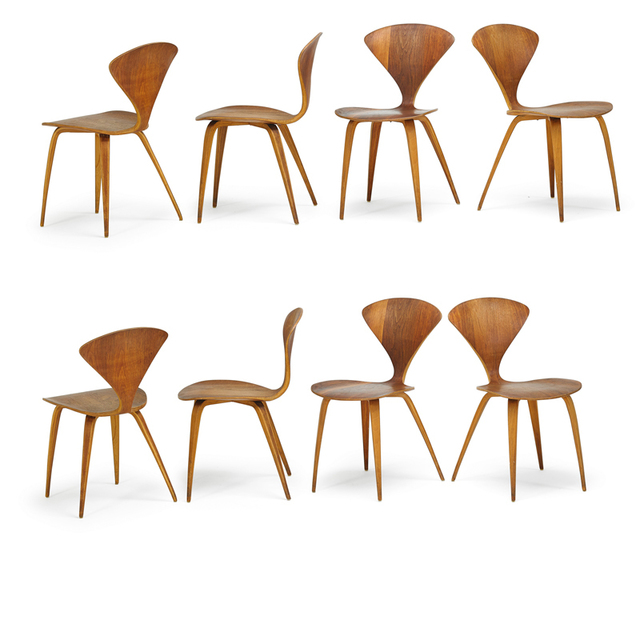 Norman Cherner, 'Set Of Eight Side Chairs, Lawrence, MA', 1960s, Rago/Wright
