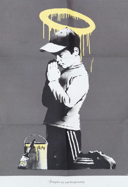 Banksy, '''Forgive Us Our Trespassing''', 2010, Roseberys