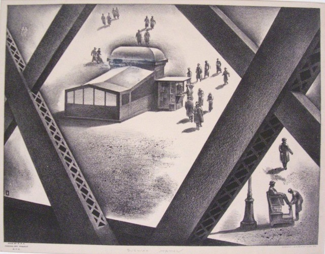 , 'Subway Station,' 1936, Susan Teller Gallery