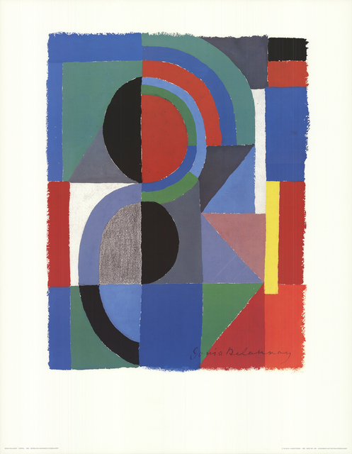 Sonia Delaunay, 'Viertel (no text)', 1989, Posters, Offset Lithograph, ArtWise