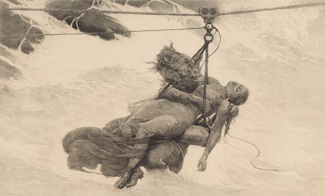 , 'Saved,' 1889, Clark Art Institute