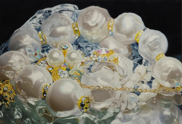 , 'Gilded Pearls 1,' 2014, Mark Moore Fine Art