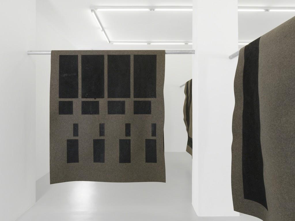 "Emilie Ding, ""Books of sleep"", Galerie Xippas, Geneva, Switzerland, 2016. ©Annik Wetter"