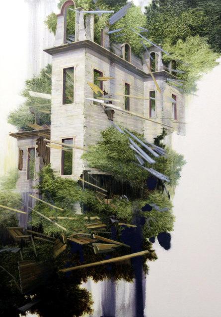 Carlo Cane, 'Tracce 501P', 2018, Painting, Oil on canvas applied on board, Galleria Punto Sull'Arte
