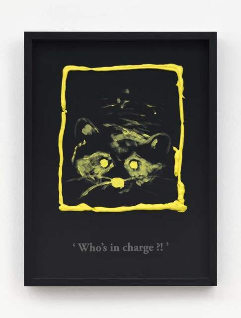 , 'Who's in charge?! (Black/ Cadmium Yellow Light),' 2017, Clages