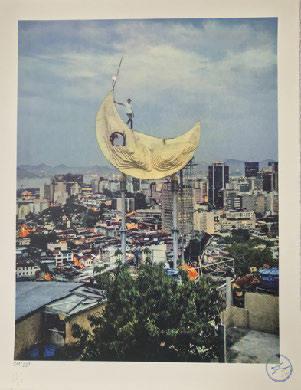 JR, 'Casa Amarela, JR on the moon, Favela Morro da Providência, Rio de Janeiro, Brazil', 2017, Digard Auction