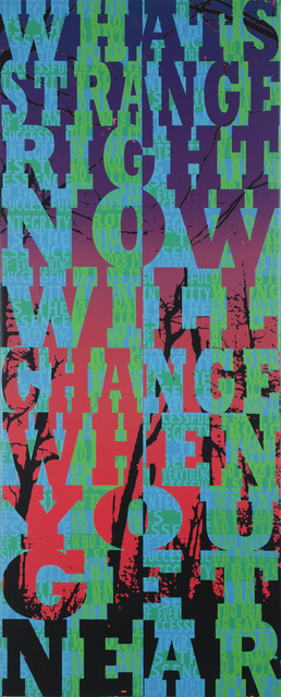 , 'What's Strange Right Now Will Change When You Get Near,' 2018, LaMontagne Gallery