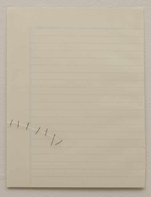 , 'Untitled (black stitches),' 2011, Ruth Benzacar Galería de Arte
