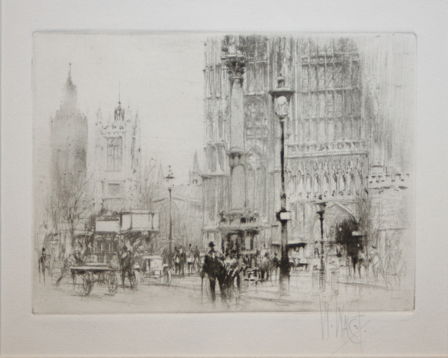 , 'Westminster Abbey,' 1919, EastCoastArt