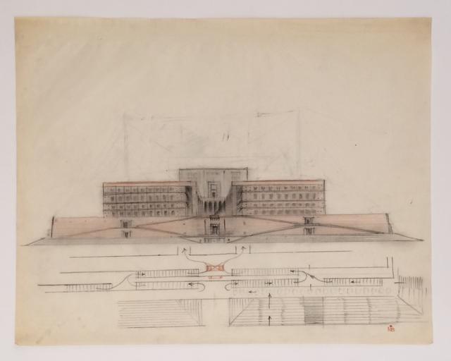 , 'Progetto per il Palazzo Littorio,' , Antonia Jannone Disegni di Architettura
