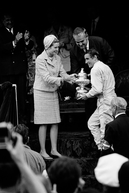 , 'Jackie Stewart Recieves Winner's Trophy from Princess Grace and Prince Rainier of Monaco,' 1966, Robert Klein Gallery