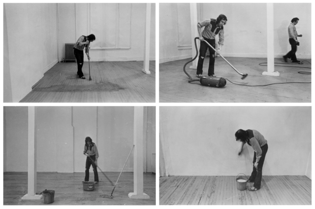 Billy Apple, 'Four Activities: Mopping, Sweeping, Vacuuming, Washing, 20 March 1971', 1971, The Mayor Gallery