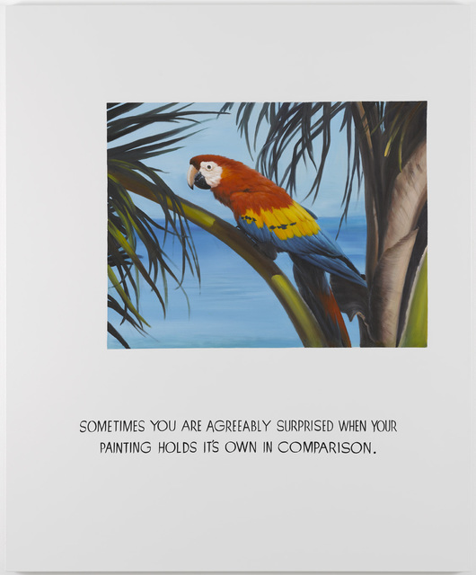 , 'Parrot Painting 03 (Sometimes you are agreeably surprised when your painting holds its own in comparison),' 2008, Galleri Nicolai Wallner