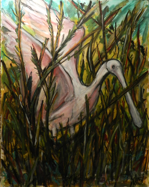 , 'Roseate Spoonbill,' 2015, William Campbell Contemporary Art, Inc.