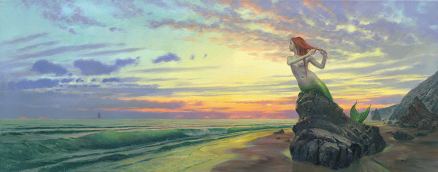 Mark Harrison, 'Siren's Dawn', 2017, Painting, Oil on canvas, IX Gallery