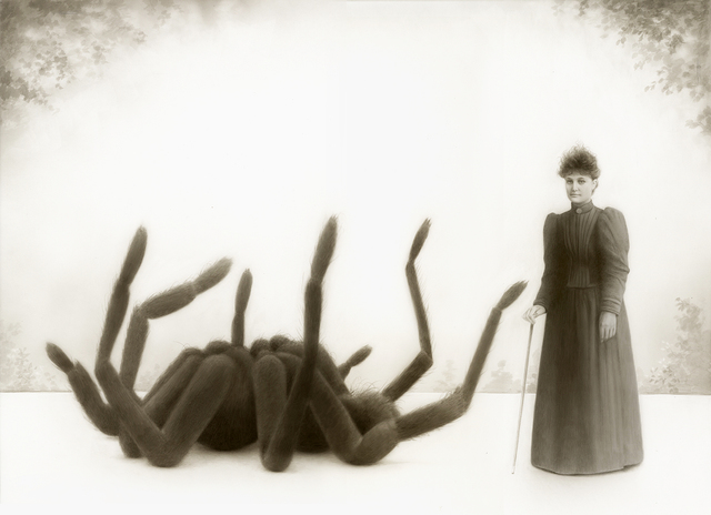 , 'Miss Emily Fowler and Her Giant Spider,' 2015, William Baczek Fine Arts
