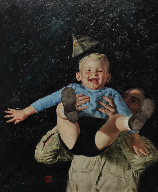 Douglass Crockwell, 'Father and Son', The Illustrated Gallery
