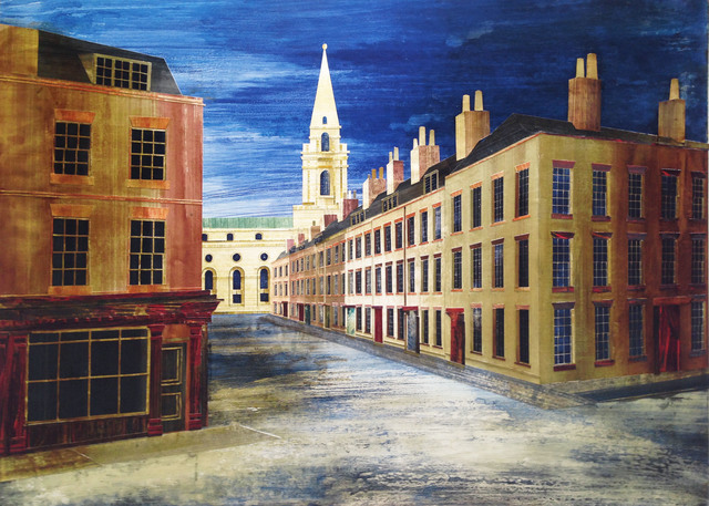 , 'Wilkes Street towards Christchurch, Spitalfields,' 2017, John Martin Gallery