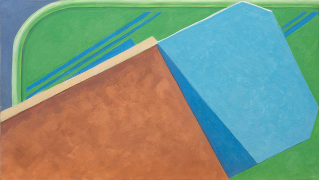 Altoon Sultan, 'Blue Lines', 2020, Painting, Egg tempera on calfskin parchment stretched over wood panel, McKenzie Fine Art
