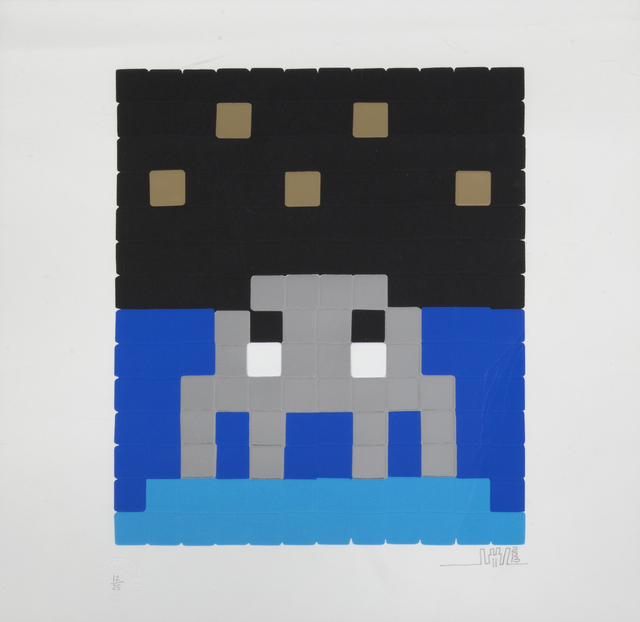 Invader, 'Space One (Silver)', 2013, Julien's Auctions