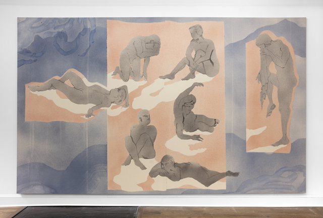 Matthew Lutz-Kinoy, 'Six bathers with shadows', 2019, Mendes Wood DM