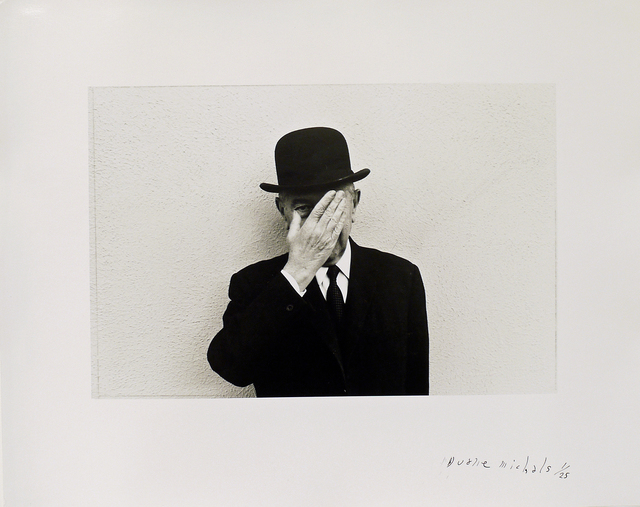 , 'Magritte with Hand Over Face Exposing One Eye,' 1965, DC Moore Gallery