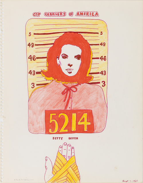 , 'Untitled (Study for Police Line Up Series),' 1965, Derek Eller Gallery