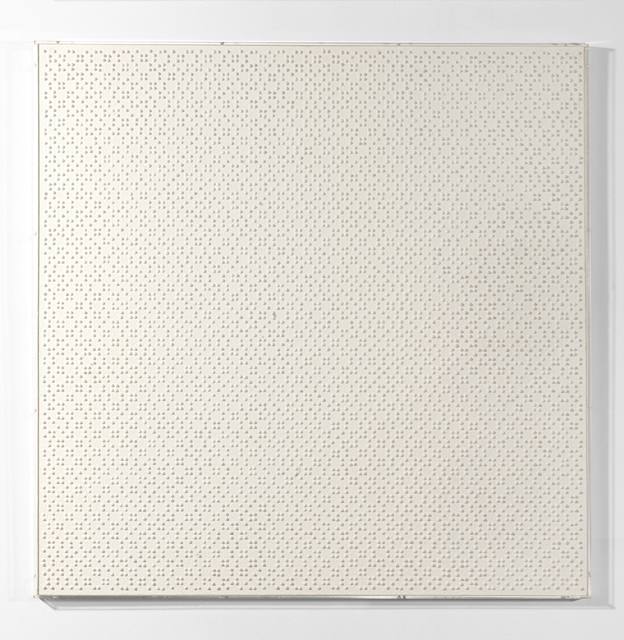Gerhard Von Graevenitz, 'Homogene Struktur mit pos.elementen', 1961, The Mayor Gallery