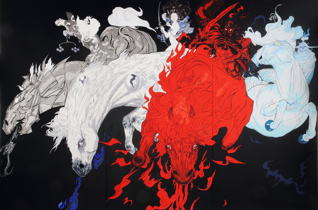, 'Quatre Chevaux / Four Horses,' 2015, Mizuma Art Gallery