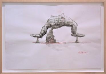 Drawing of Three Legged Buddha No.3