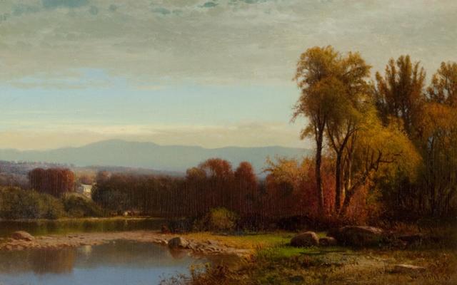, 'Sunset on Catskill Creek,' 1869, Questroyal Fine Art