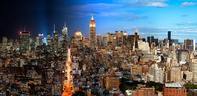 , 'Night & Day - Manhattan Cityscape #1,' 2016, Andrew Prokos Gallery
