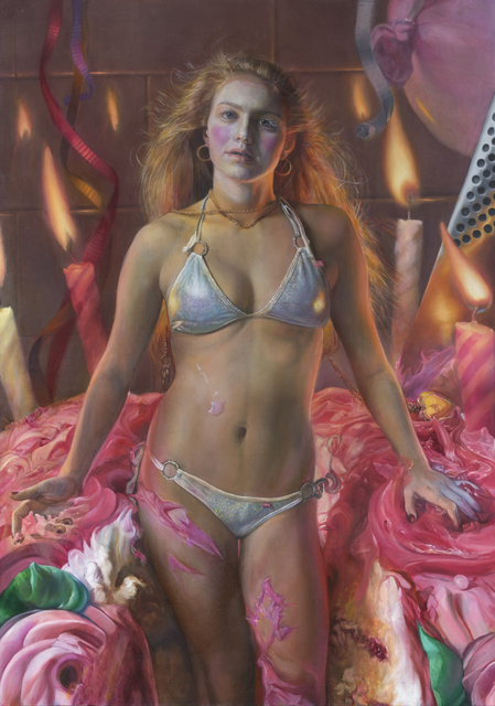 Margaret Bowland, 'Barbie Cake: Barbie Cake as a Woman', 2019, Painting, Oil on Linen, RJD Gallery